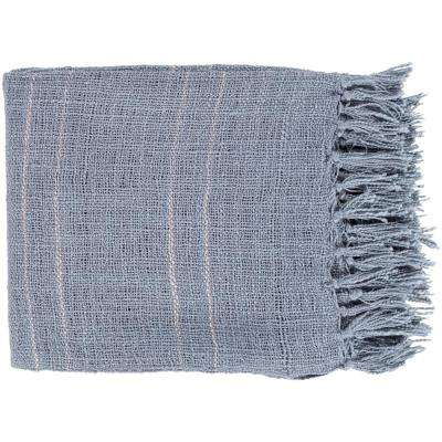 Elenora Denim Acrylic Throw