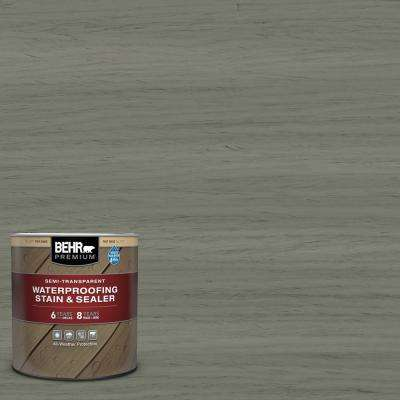 1 qt. #ST-137 Drift Gray Semi-Transparent Waterproofing Exterior Wood Stain and Sealer