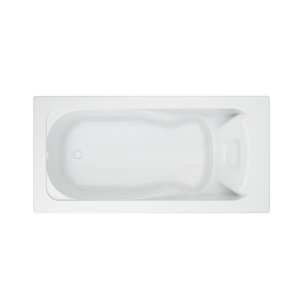 American Standard Cadet 6 ft. Acrylic Reversible Drain Bathtub in ...
