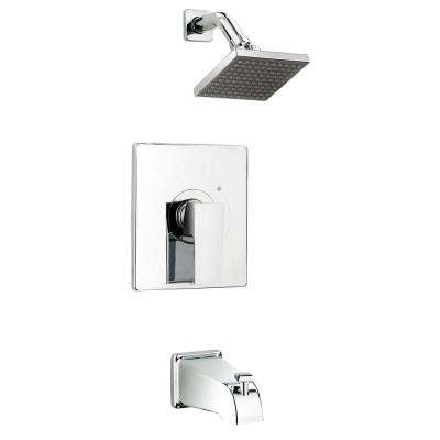 Belanger Single-Handle 1-Spray Tub and Shower Faucet with Rough-In Valve in Polished Chrome (Valve Included)