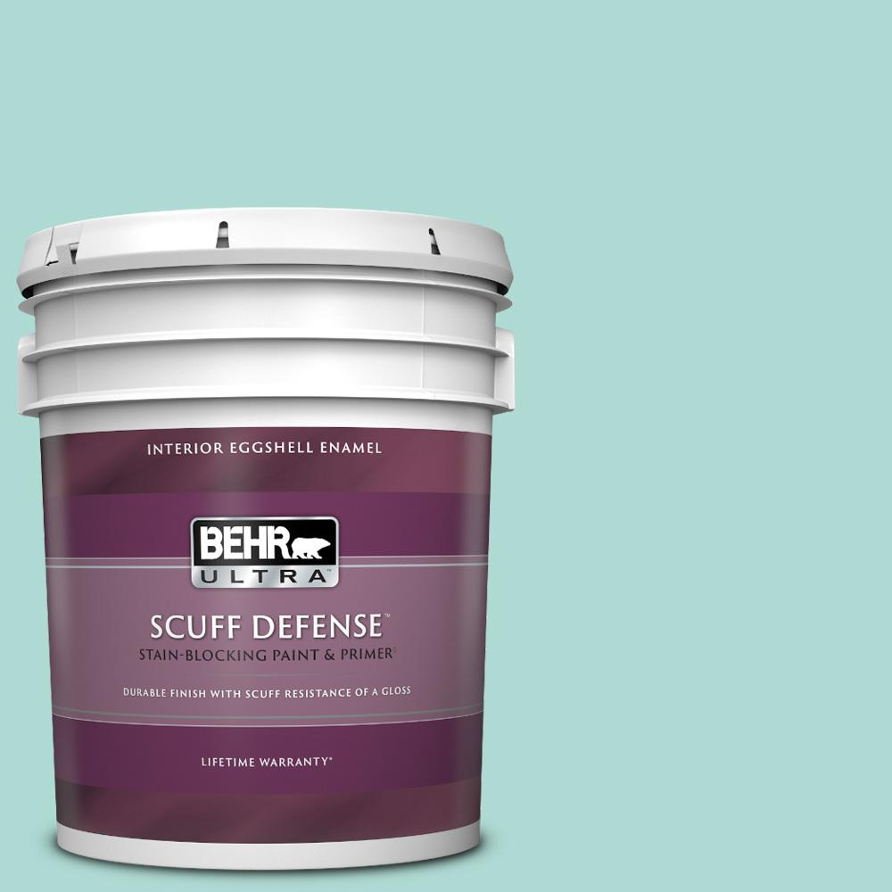Behr Ultra 5 Gal M450 3 Wave Top Extra Durable Eggshell Enamel Interior Paint Primer 275005 The Home Depot