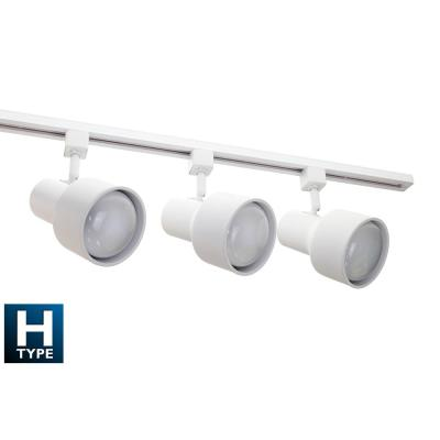 4 ft. 3-Light White Baffle Track Lighting Kit