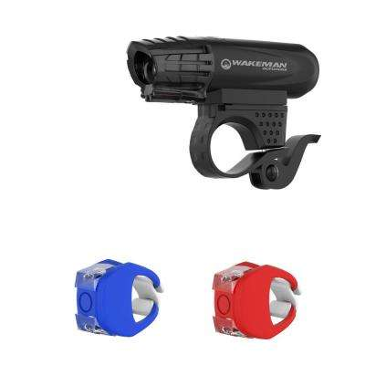 USB Rechargeable LED Bike Light Set