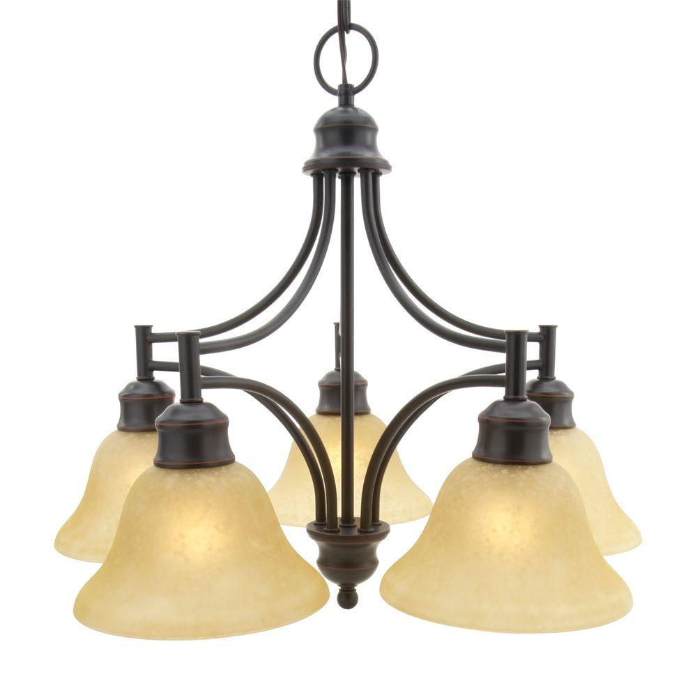 Design House Bristol 5-Light Oil Rubbed Bronze Downlight Chandelier