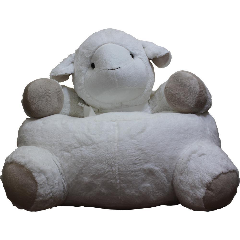 Astonishing White Plush Kids Lamb Chair Sheepchair The Home Depot Ibusinesslaw Wood Chair Design Ideas Ibusinesslaworg