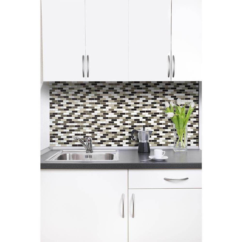 Smart Tiles Murano Stone 10.2 in. W x 9.10 in. H Peel and Stick Self ...