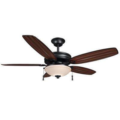 Oconee 52 in. Indoor/Outdoor Natural Iron Ceiling Fan  with Light Kit