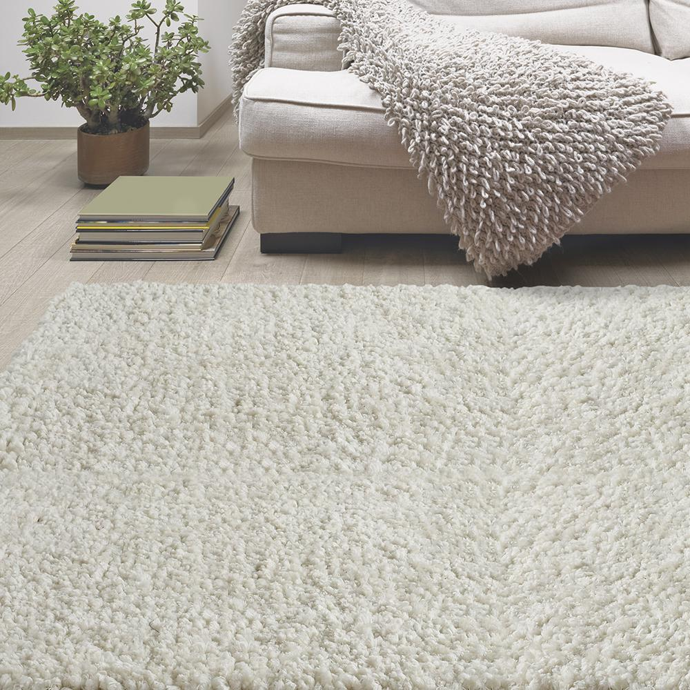 white area rug lanart palazzo shag white 5 ft x 7 ft 6 in area rug 28834