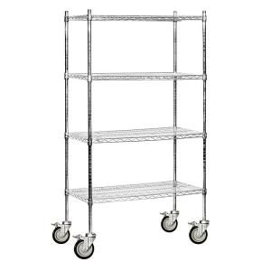 Mobile Wire Rack | Salsbury Industries 48 In W X 80 In H X 18 In D Industrial Grade