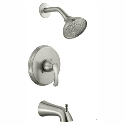 Edgewood Single-Handle 1-Spray Tub and Shower Faucet in Brushed Nickel (Valve Included)