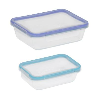 Total Solutions 4-Piece Glass Rectangle Storage Value Pack