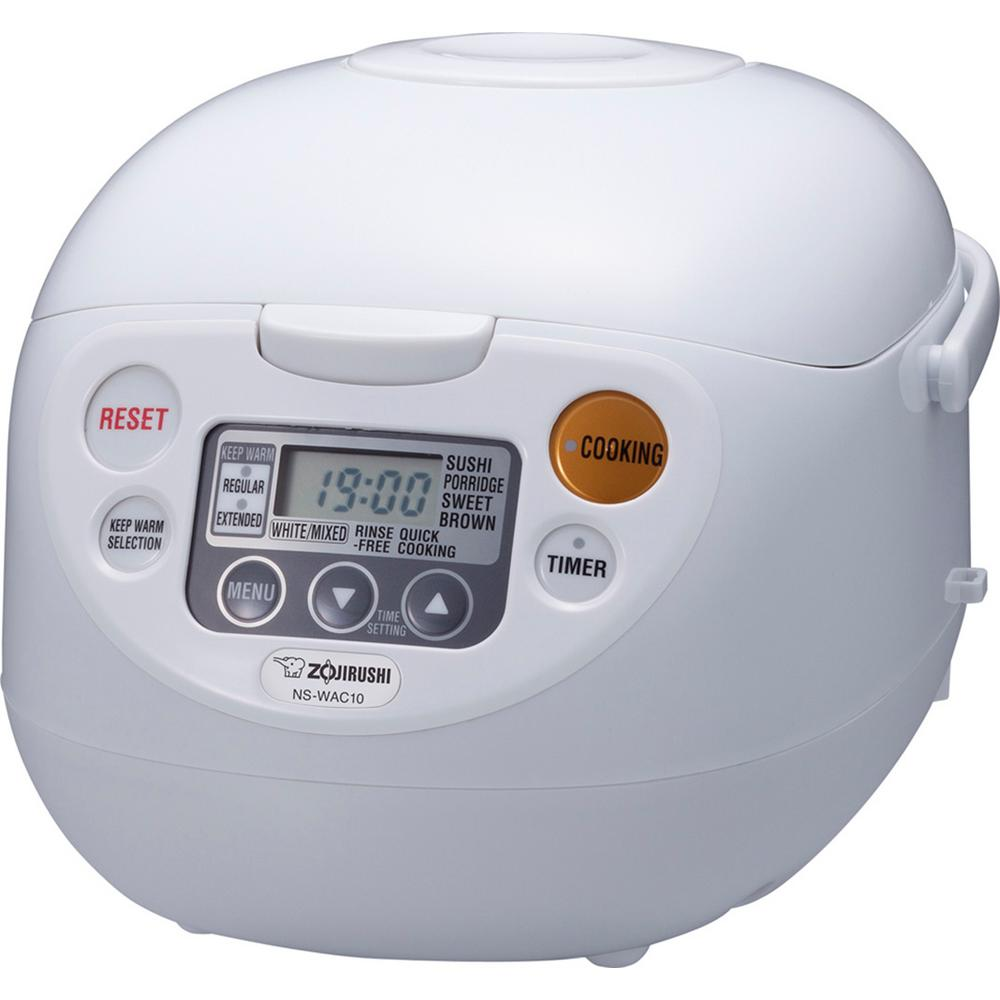Zojirushi Micom Rice Cooker and Warmer White 5 Cup, Cool ...