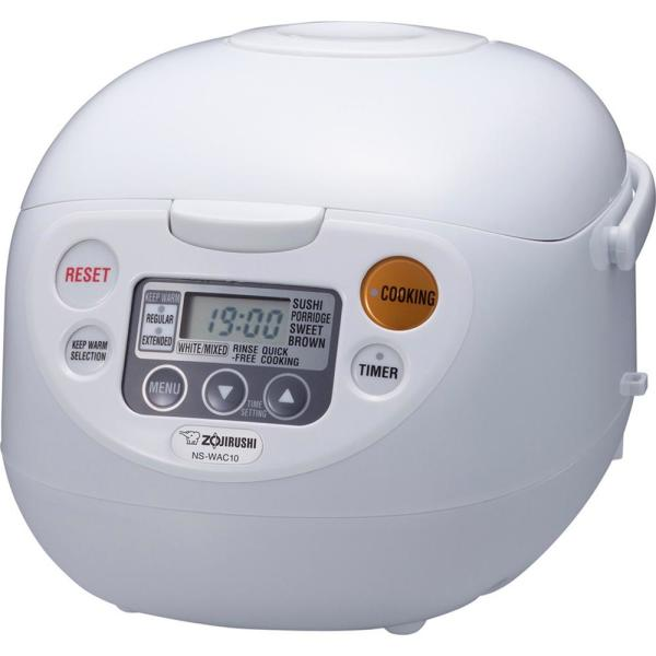 0ad6fd084e2 Zojirushi Micom Rice Cooker and Warmer White 5 Cup NS-WAC10WD - The ...