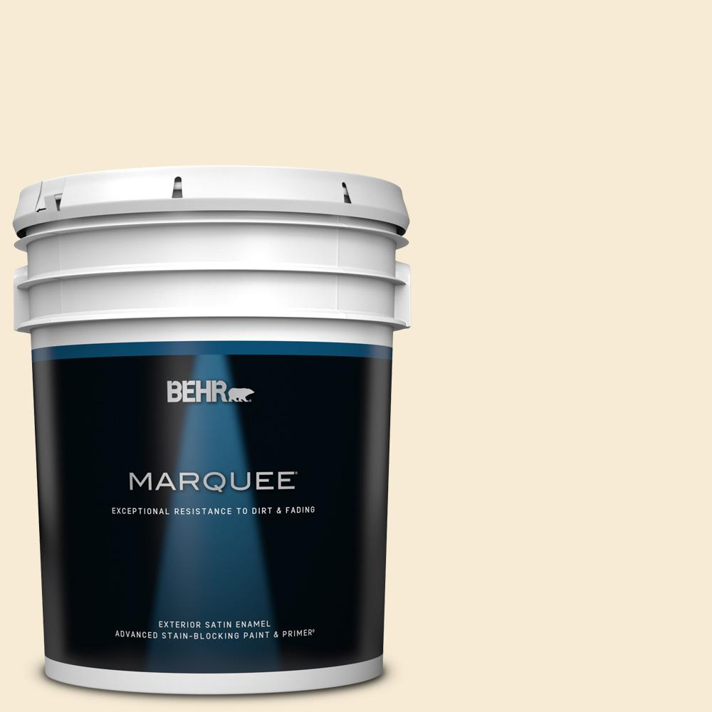 Behr Marquee Home Decorators Collection 5 Gal Hdc Ct 02 Garden Rose White Satin Enamel Exterior Paint And Primer 945005 The Home Depot
