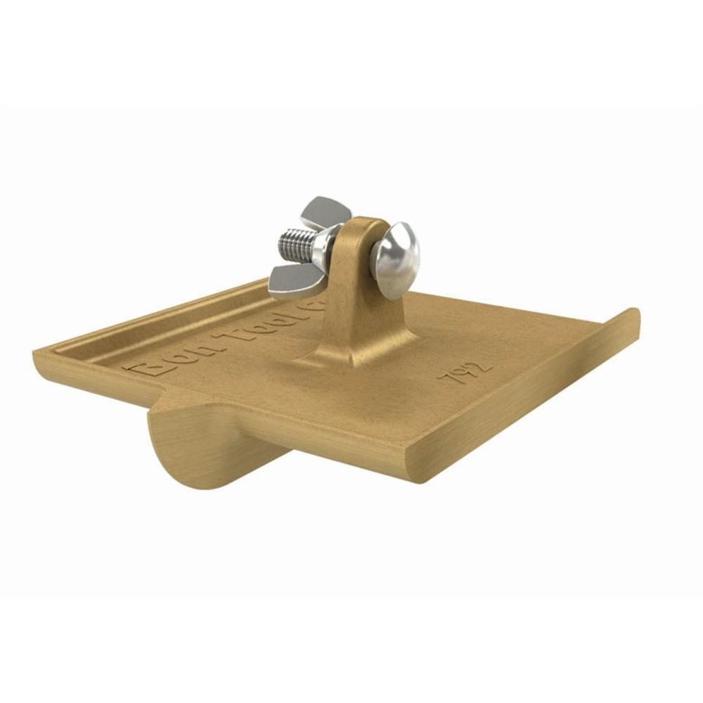 6 in. x 4-1/2 in. Bronze Walking Concrete Groover