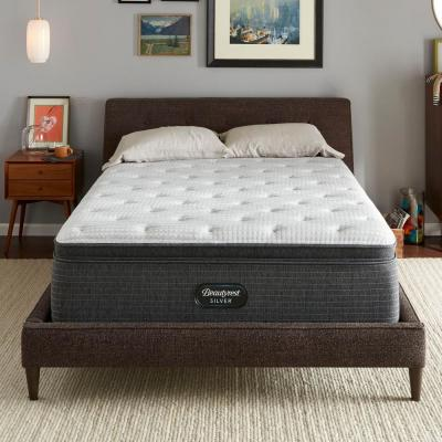 BRS900-C 16.5 in. Queen Plush Pillow Top Mattress with 9 in. Box Spring