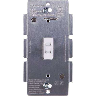 Z-Wave Plus In-Wall Smart Toggle Switch with White