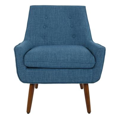 Rhodes Blue Fabric Chair with Coffee Legs