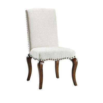 Marais Solid Ivory Linen Accent Chair