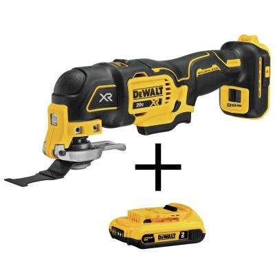 20-Volt MAX Cordless Brushless Oscillating Tool (Tool only) with Free 20-Volt Lithium Ion Battery Pack 2.0Ah