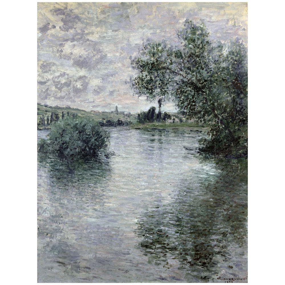 24 in. x 32 in. Seine at Vetheuil, 1879 Canvas Art