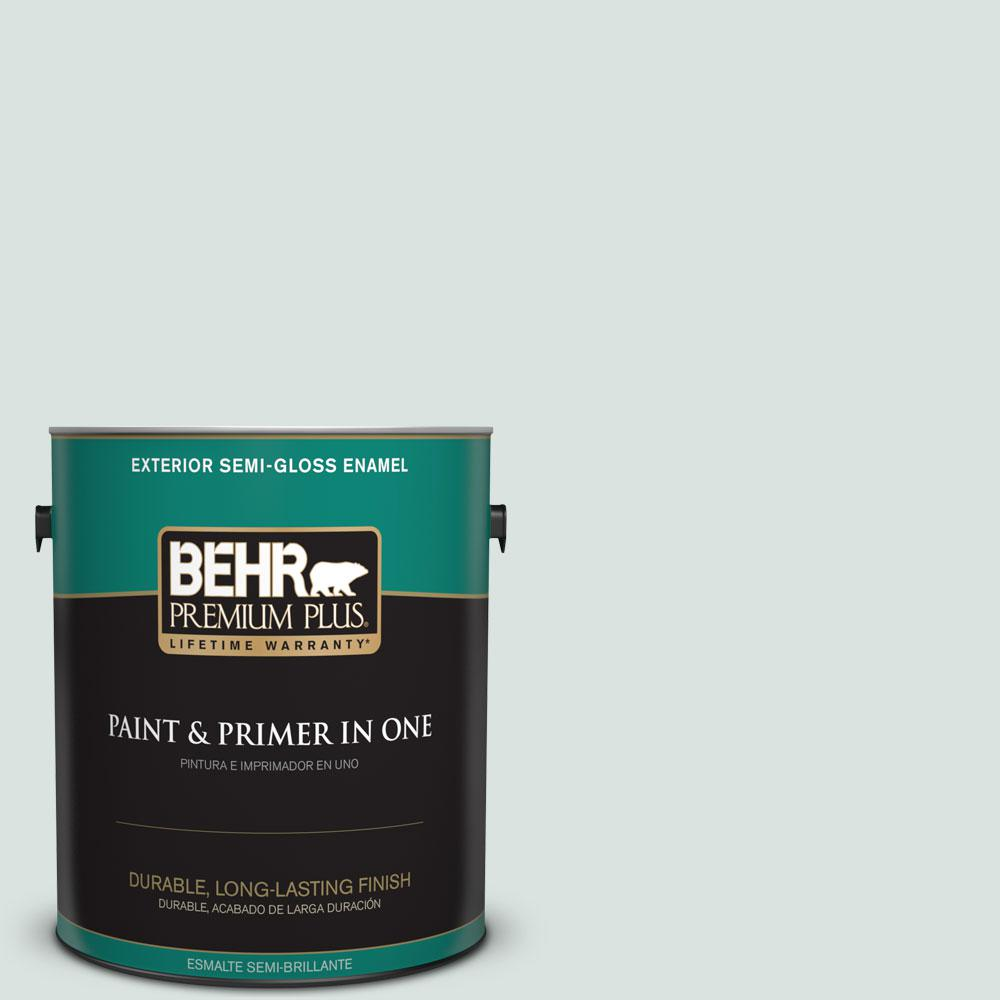 1-gal. #N430-1 Mountain Peak White Semi-Gloss Enamel Exterior Paint
