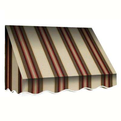 6 ft. San Francisco Window Awning (31 in. H x 24 in. D) in Brown/TerraCotta