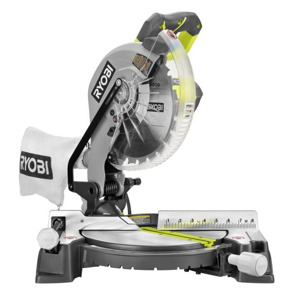Ryobi 10 In Compound Miter Saw With Led Ts1346 The Home Depot