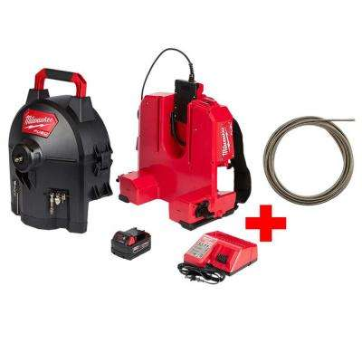 M18 FUEL 18-Volt Brushless Cordless Drain Cleaning 1/2 in. Sectional Drum System Kit W/ Free 1/2 in. x 50 ft. Cable