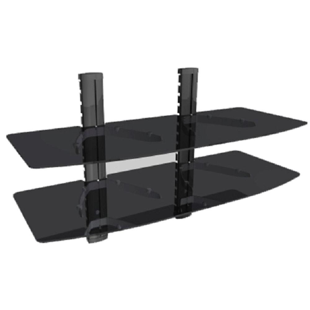 Tygerclaw Double Av Component Shelving Wall Mount Lcd8219blk The