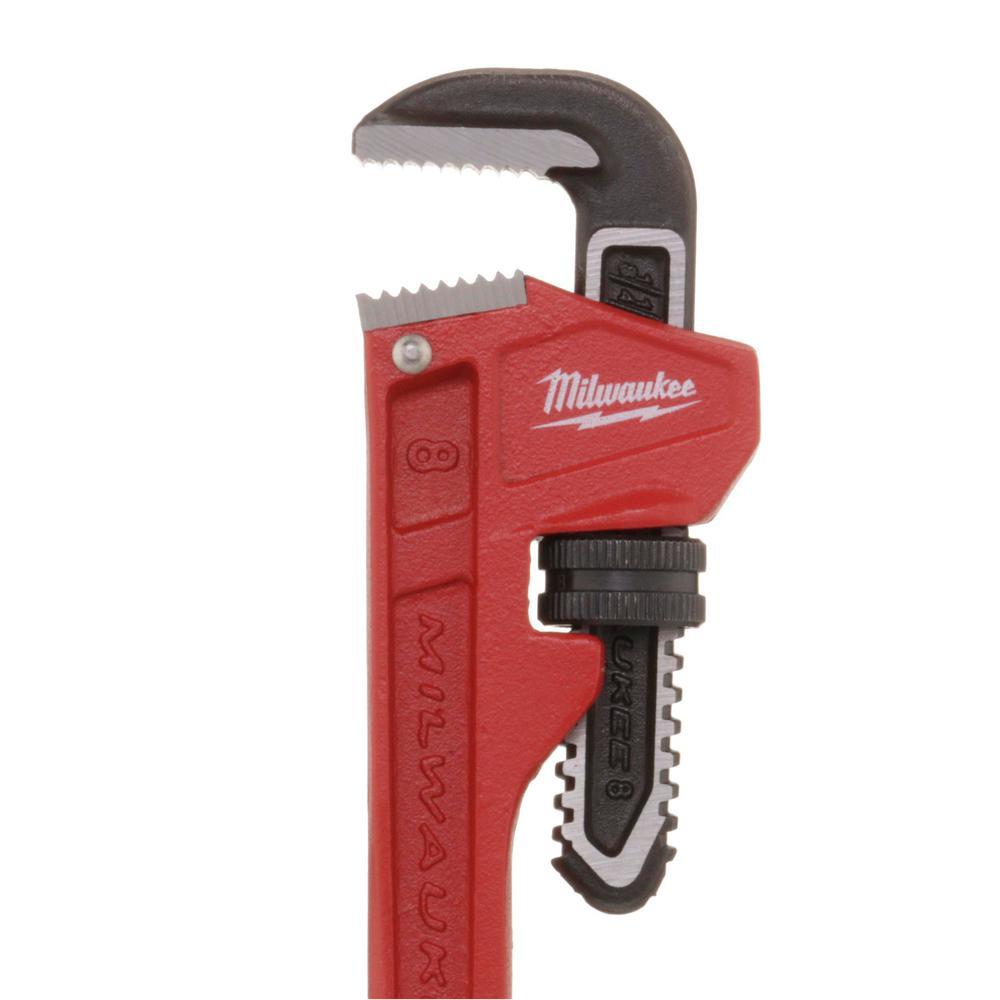 Steel Grip Adjustable 8 in Steel Pipe Wrench