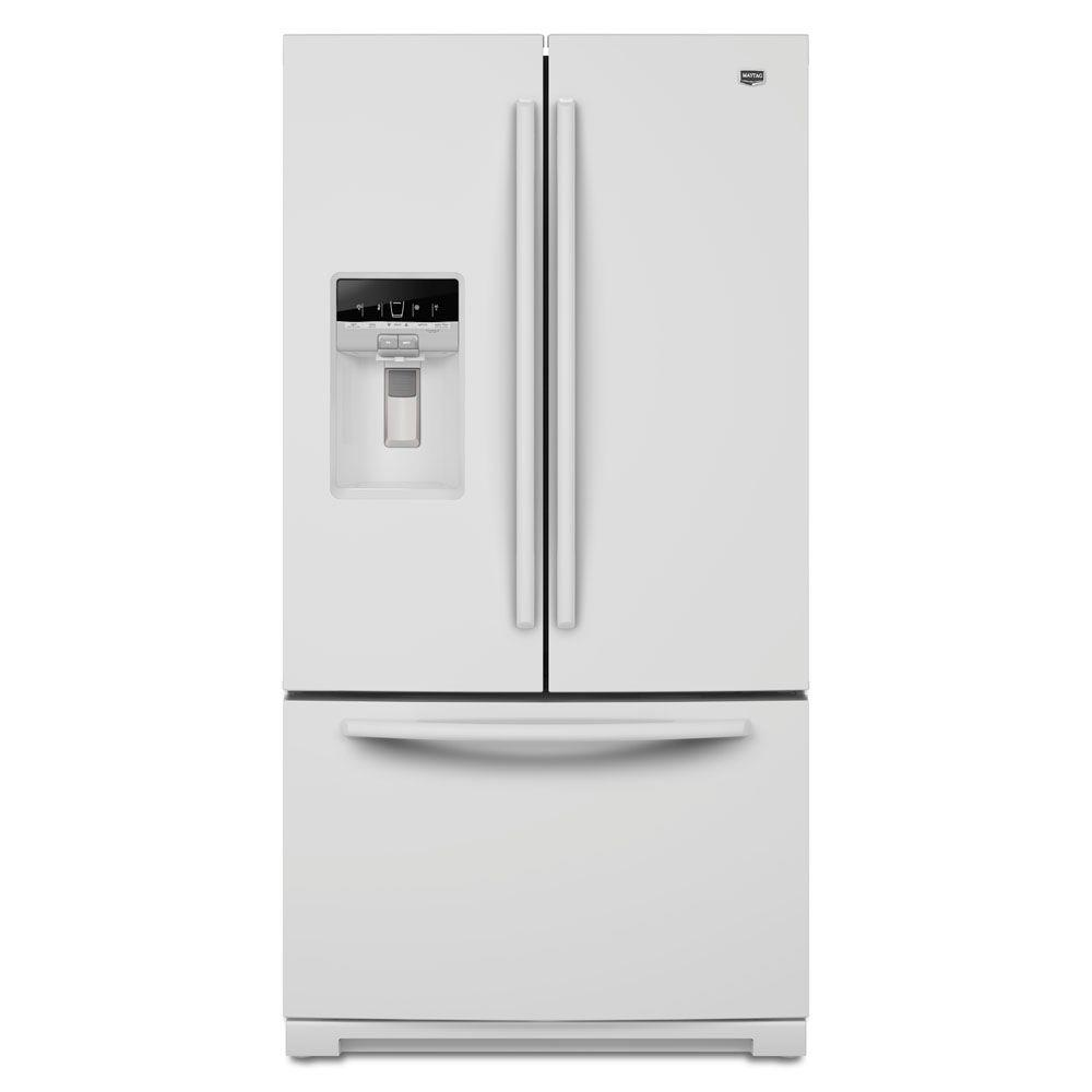 Maytag Ice2O 28.6 cu. ft. French Door Refrigerator in White-DISCONTINUED