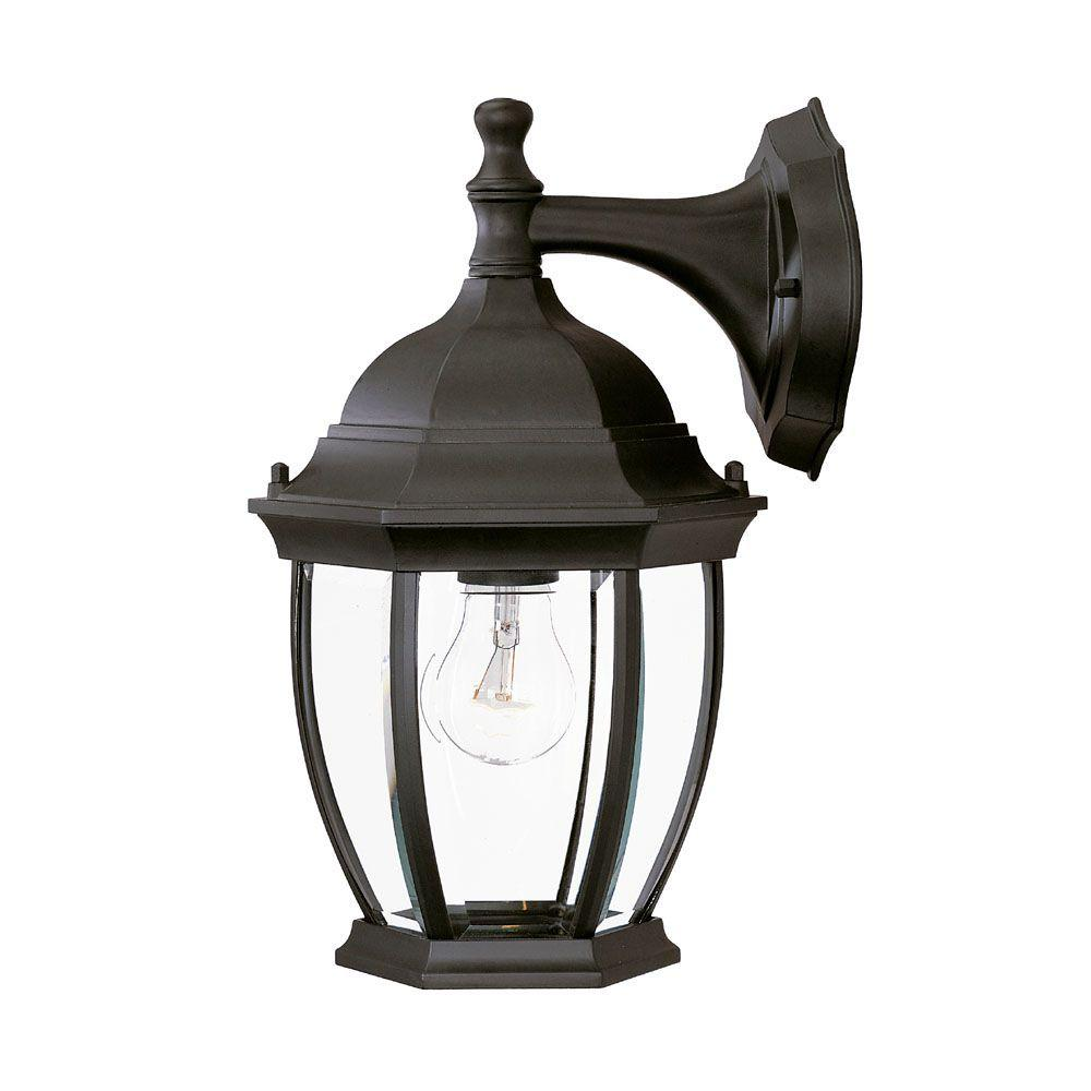 Outdoor Lighting Fixtures Home Depot: Acclaim Lighting Wexford Collection 1-Light Matte Black