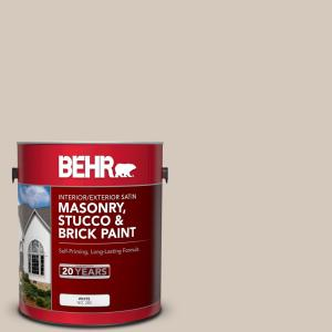BEHR 1 gal  #N230-2 Old Map Satin Interior/Exterior Masonry, Stucco and  Brick Paint-28001 - The Home Depot