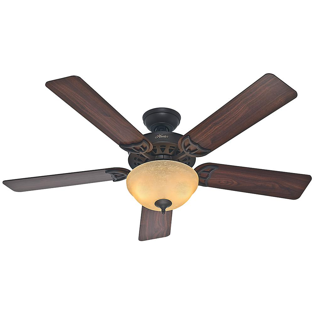Hunter Sonora 52 in. Indoor New Bronze Ceiling Fan with Light Kit