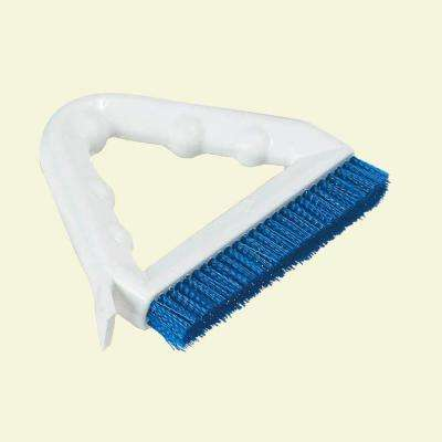 9 in. Blue Polyester Tile and Grout Brush (Case of 12)