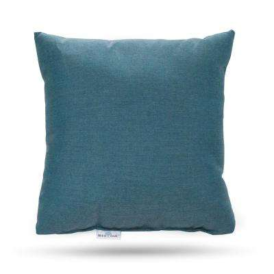 Sunbrella Cast Lagoon Square Outdoor Throw Pillow (2-Pack)