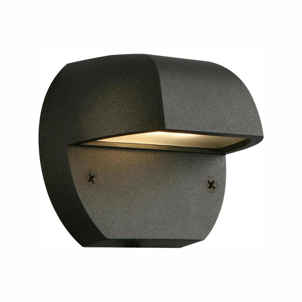 Hampton Bay Low Voltage Black Outdoor Integrated Led Surface Mount Light Iyr2601l 2 The Home Depot