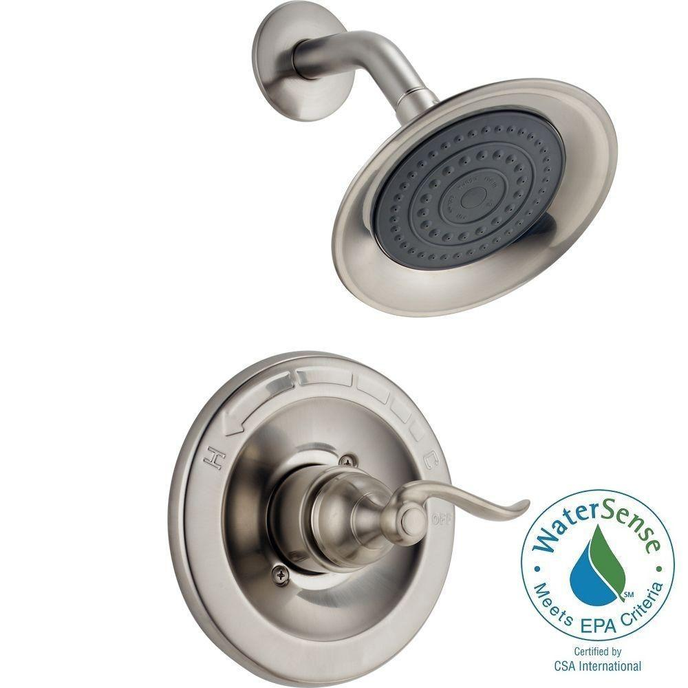 Delta Windemere 1 Handle Shower Only Faucet Trim Kit In Chrome Valve Not Included Bt14296 The Home Depot