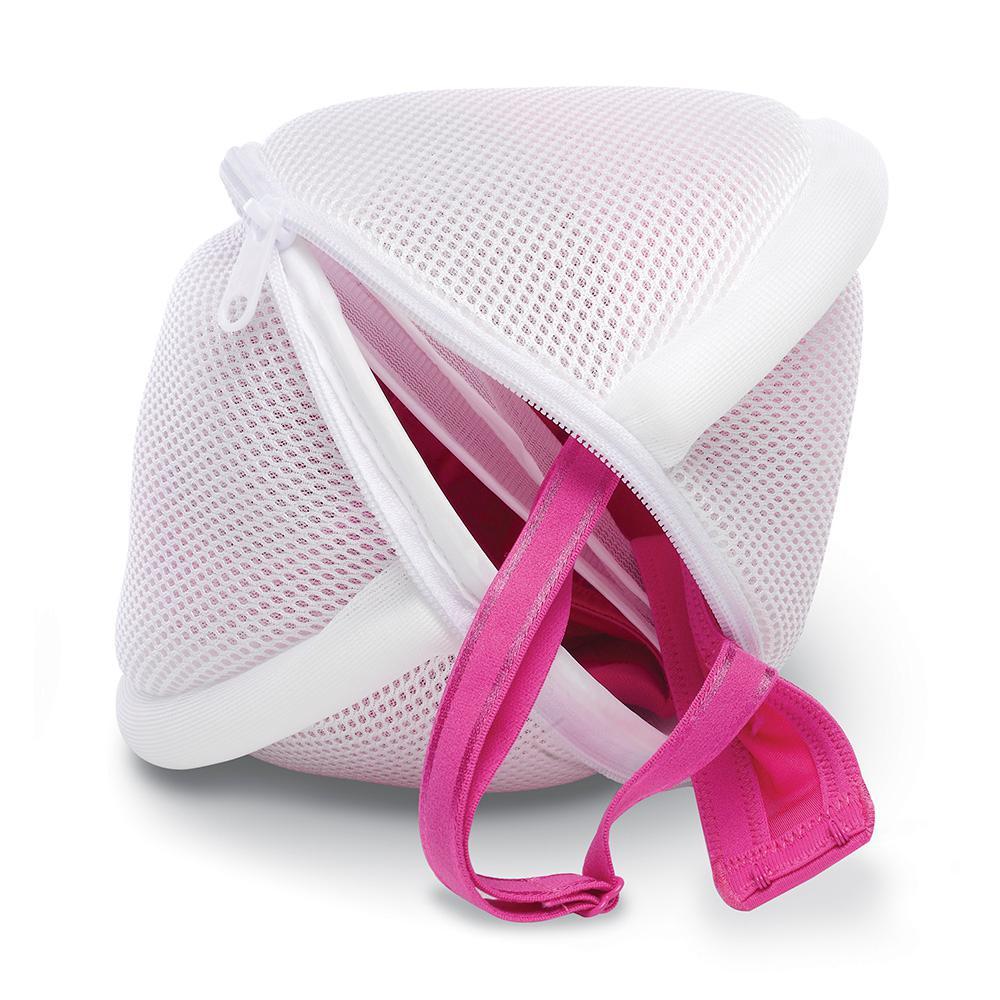Whitmor 2 Compartment White Bra Wash Bag
