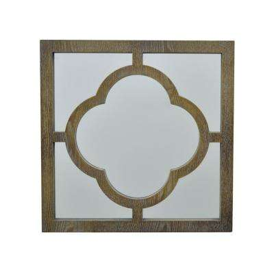Decorative Mirror with Wood Frame