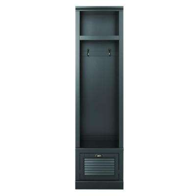 Shutter 74 in. H x 19.25 in. W x 18 in. D Modular Open Small Center Open Locker in Worn Black