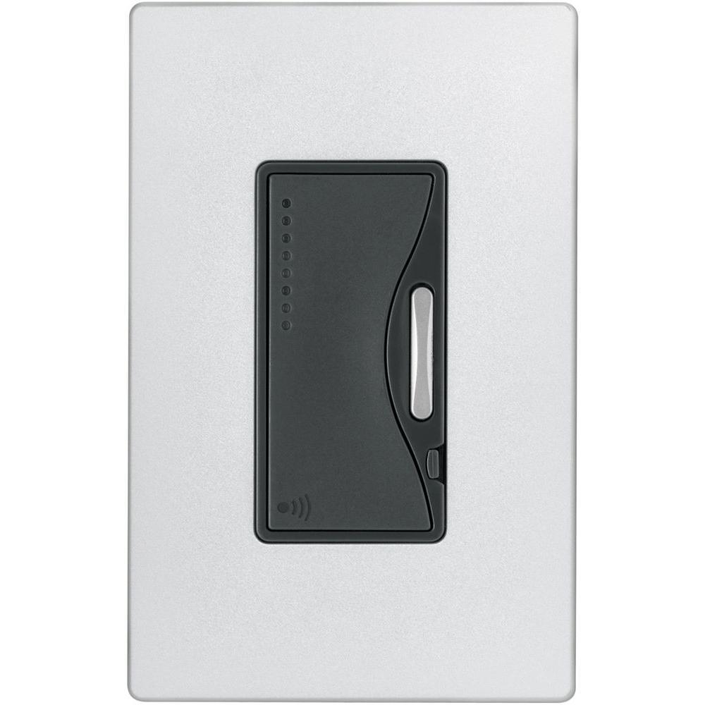 Aspire 600-Watt RF Incandescent/MLV Smart Dimmer, Silver Granite
