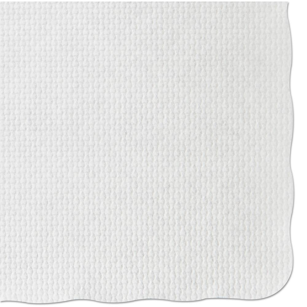 9-3/4 in. x 13-3/4 in. White Barato Patterned Placemats (1000 Per