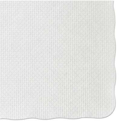 9-3/4 in. x 13-3/4 in. White Barato Patterned Placemats (1000 Per Case)