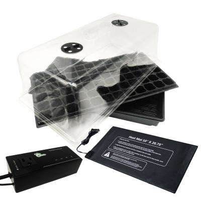 5-Piece Propagation Kit with Heat Mat, Flat Tray, Insert, Tall Dome and Digital Outlet Thermostat H/C
