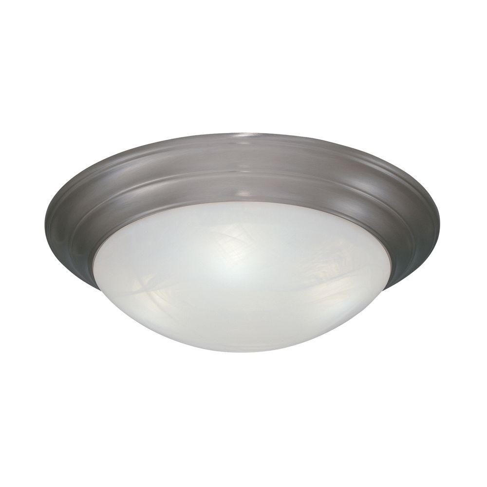 Clovis Collection 1-Light Pewter Ceiling Flushmount