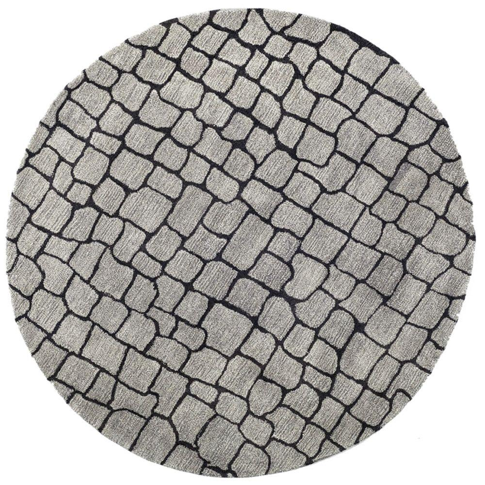 Safavieh Soho Silver Grey 6 Ft X 6 Ft Round Area Rug