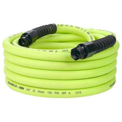 Pro 5/8 in. x 50 ft., 3/4 in. - 11-1/2 GHT Fittings Water Hose