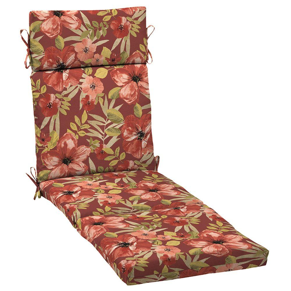 Chili Tropical Blossom Outdoor Chaise Lounge Cushion